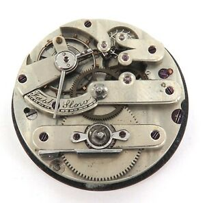 1800s-HIGH-GRADE-KEY-WIND-UNBRANDED-POCKET-WATCH-MOVEMENT-amp-DIAL