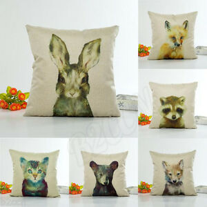18-034-Animal-Print-Flax-Pillow-Case-Sofa-Bed-Waist-Throw-Cushion-Cover-Home-Decor