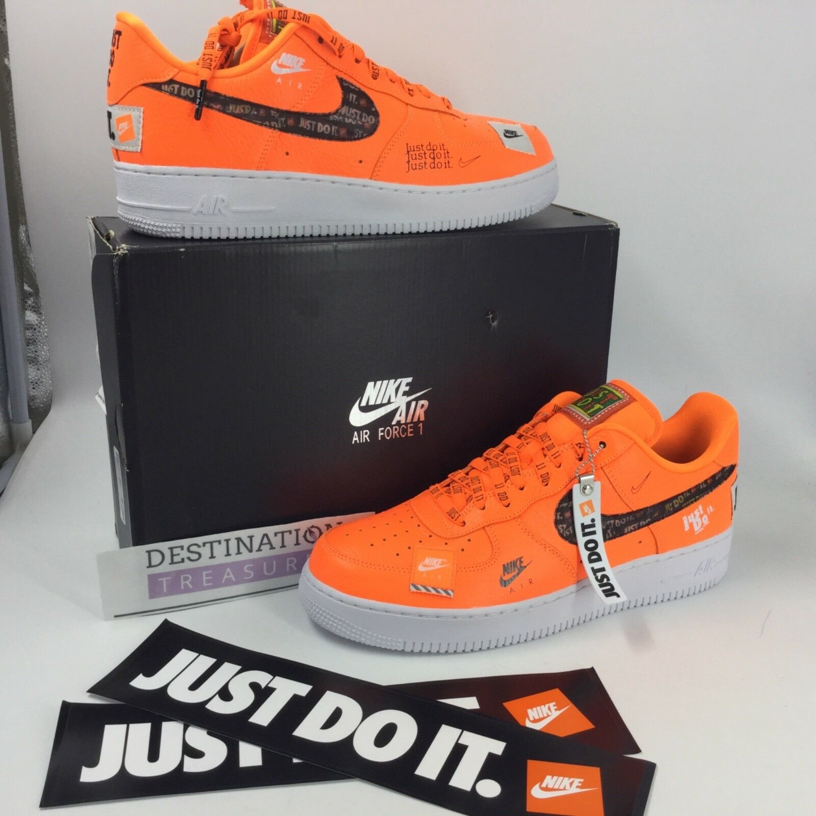 Nike Air Force 1 AF1 Sneakers JUST DO IT Orange 1st Ed Men 11.5 Keychain JDI