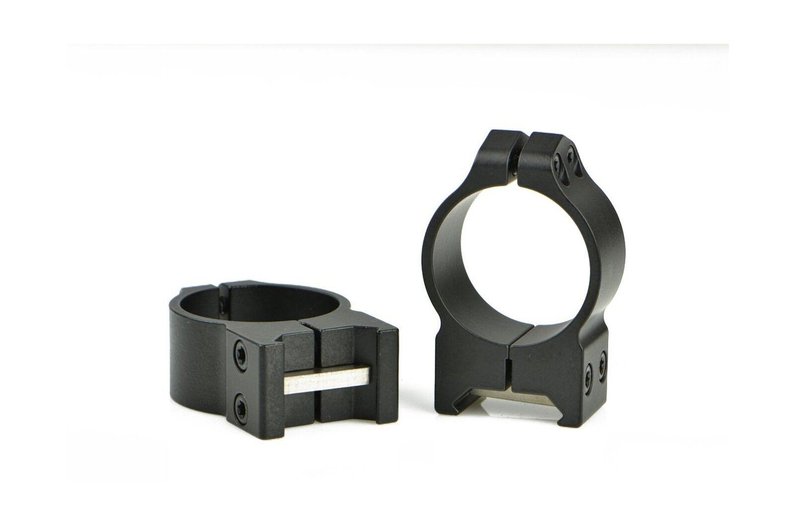Warne Scope Mounts Medium Matte Permanent Attach Rings (30mm) Free Shipping