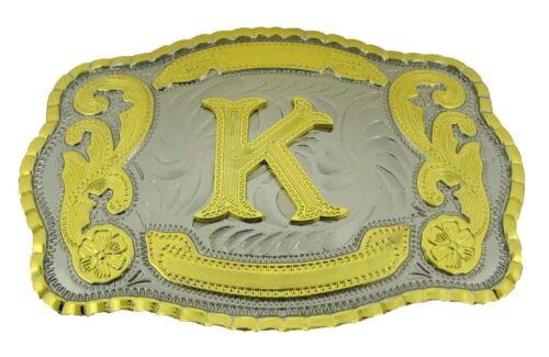 Alphabet Letter Initial Belt Buckles Monogram Rodeo Texas Western Cowboy Cowgirl