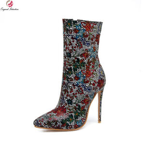 Original-Intention-Women-Ankle-Boots-Pointed-Toe-Heels-Shoes-Women-Plus-Size-16