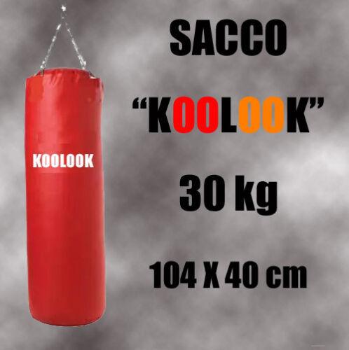 KOOLOOK SACCO BOXE PIENO ROSSO KG.30 104X 34 SACCO PUGILATO IL TOP PROFESSIONALE