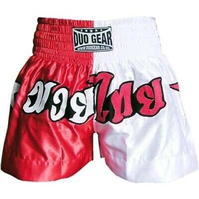 """""""starsplit"""" Bianco / Rosso Thai Boxing Training Shorts-mostra Il Titolo Originale"""