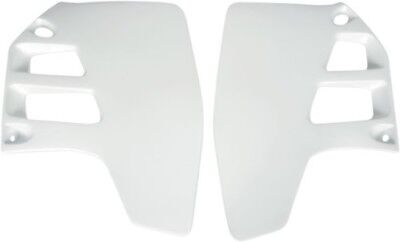 UFO Plastics Radiator Covers White Suzuki RM125 1992 RM250 89-92 Replacement