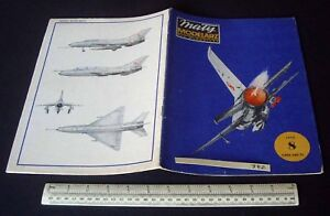 1970s/80s Vintage Maly Modelarz Poland Cut-out Model Book. Mig-21 Interceptor