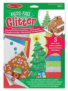 Melissa-and-Doug-Mess-Free-Glitter-Christmas-Tree-amp-Gingerbread-House-BNIB
