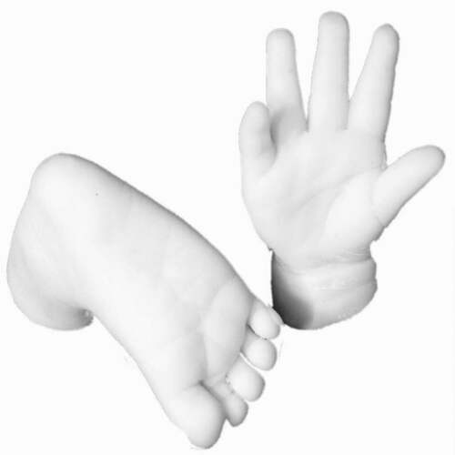 XXL Deluxe 3D Baby Casting Kit 24 Hand /& Foot Print Casts Keep Sake Gift