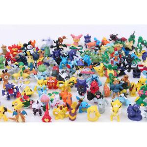 144-Pcs-Pokemon-Mini-Figures-Lot-Pikachu-Cake-Topper-Party-Toys-Gift-No-Repeat
