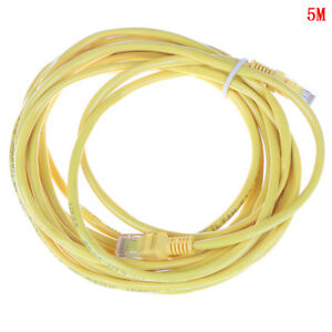 1M-5M Cat5e UTP RJ-45 yellow network cable patch cord ethernet cab IJ