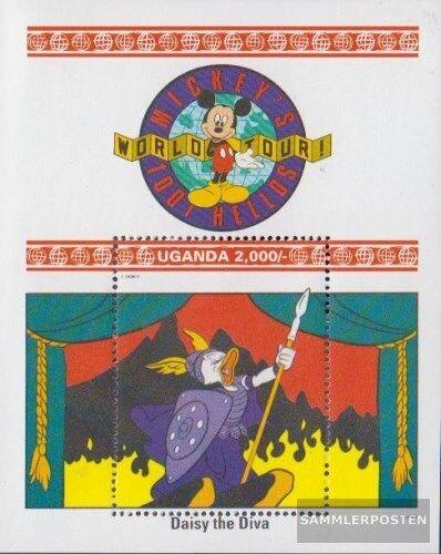 Ouganda Block199 Neuf Avec Gomme Originale 1993 Walt-disney: complète Edition