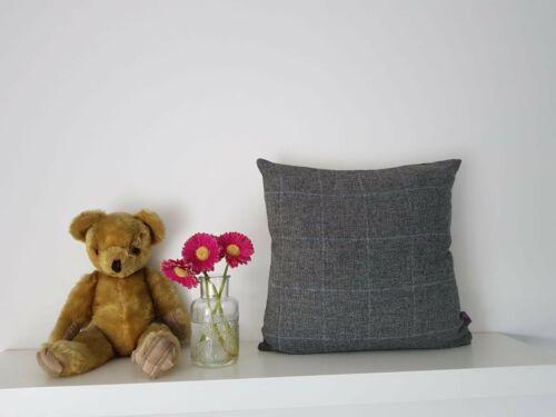 18 inch 45cm 100/% Shetland wool in charcoal grey cushion covers.