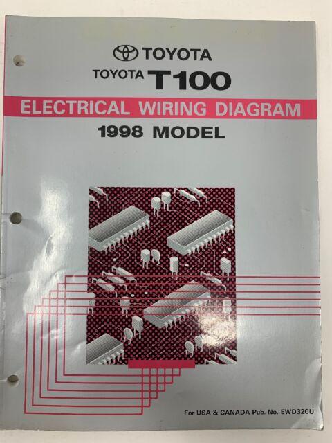 1998 Toyota T100 Electrical Wiring Diagram Repair Manual