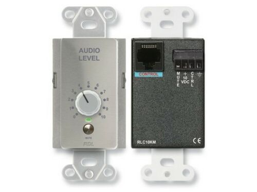 RDL DS-RLC10KM Remote Level Control with Muting//stainless steel