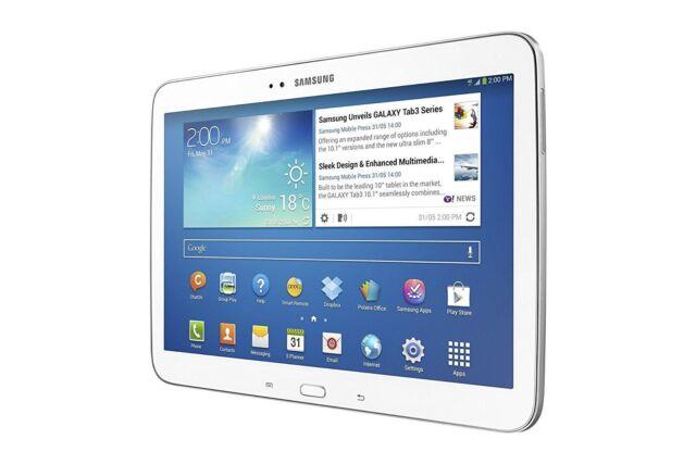 "Samsung Galaxy Tab 3 GT-P5220 16GB Wi-Fi +4G LTE Unlock 10.1"" Android - White"