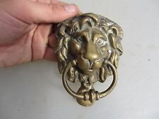 Antique Brass Door Knocker Lion Head Architectural Vintage Old Lions Small