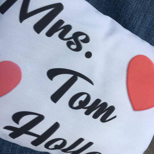 Tom Holland Handmade Small Pillow Mrs Tom Holland Love