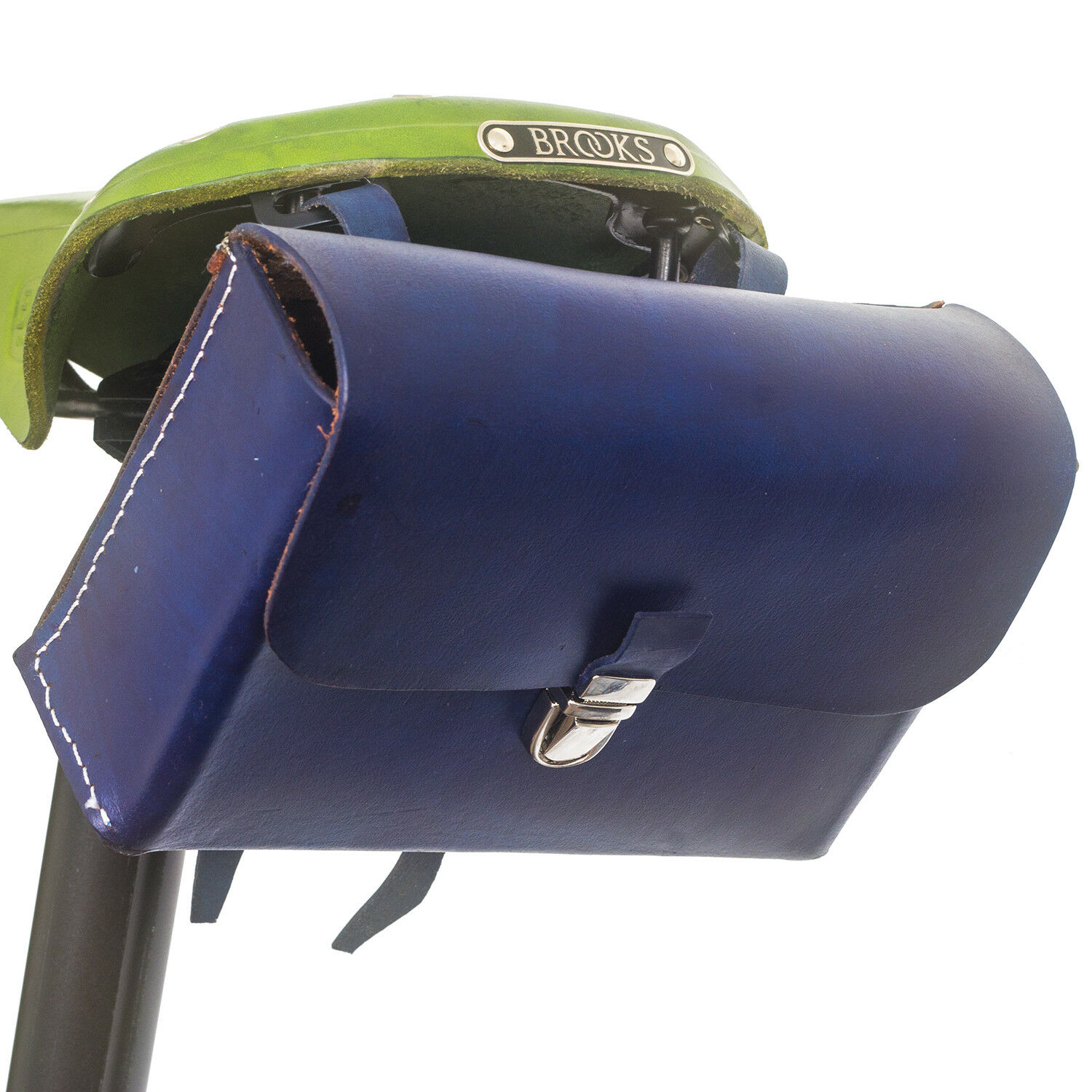 Leather Saddle Bag For  Bike NAVY blueeE Limited Edition by London Craftwork L03  discount store