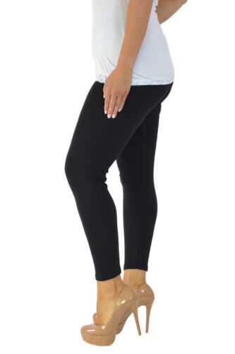 NEW WOMENS LADIES PLAIN STRETCHY VISCOSE FULL LENGTH LEGGING PLUS SIZE 12 TO 30