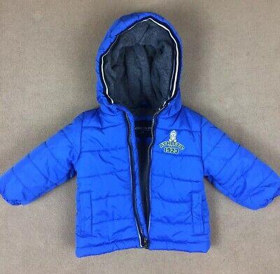 London Fog Infant Boys Blue /& Neon Yellow Snowsuit Size 12M 18M 24M