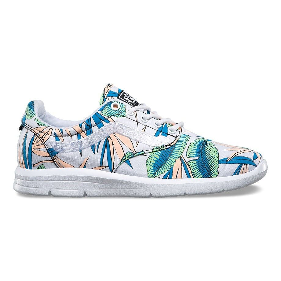 VANS ISO 1.5 (Tropical Leaves) True White UltraCush Trainer Shoes WOMEN'S 7