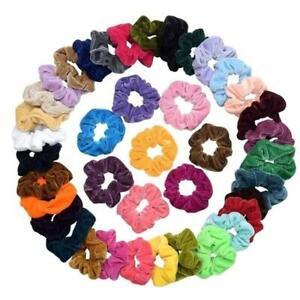 Velvet-Scrunchies-Women-Elastic-Hairband-Hair-Rings-Fashion-Ponytail-Holder