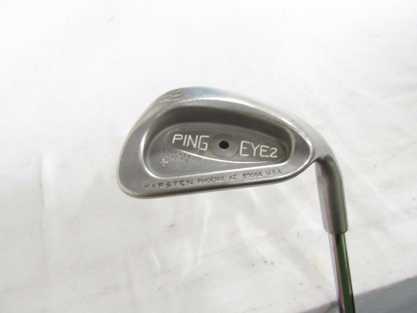 Usado RH Ping Eye 2+ (punto Negro) pitcheo W Cuña Ping ZZ Lite Acero rígido de la flexión S