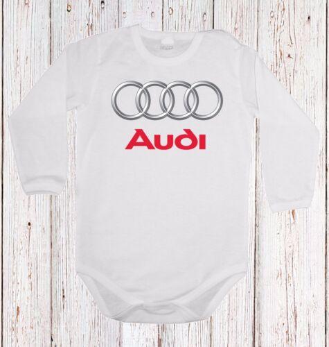 BABY BODY AUDI LOGO  CAR LANGARM//KURZARM WHITE
