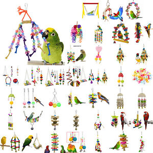 Pets-Bird-Toy-Parrot-Hanging-Swing-Rope-Cage-Toys-Parakeet-Cockatiel-Budgie-DIY