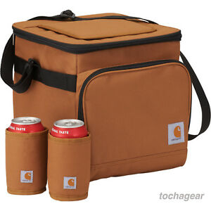 e8dc09f3f2c6 Details about NEW! Carhartt 18 Can Cooler Bag with Can Koozie Holders Lunch  Picnic Tailgate