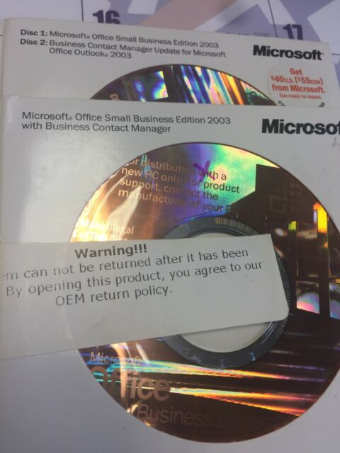 Microsoft Office Small Business Edition 2003 - Full Version for Windows