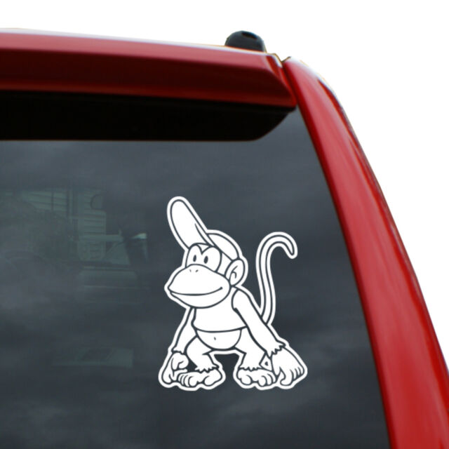 Diddy Kong Vinyl Decal Color White 5 Quot X 3 8 Quot Ebay