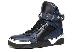 Givenchy hoge lederen Heren Tyson tone 40 maat top Eu blauw sneakers 1498 two 76vYbIygmf