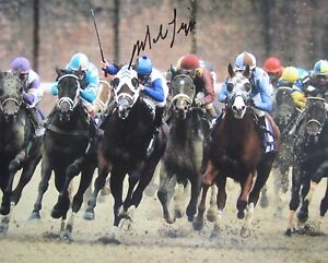 mike luzzi autographed signed horse racing photo 8 x10 w coa hard