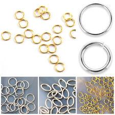 Sterling Silver Open Jump Ring Twisted Oxidise JOSS-102-8MM