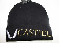 Warner Bros Supernatural Castiel Wings Knit Cap Beanie Hat Black