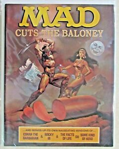 VINTAGE - MAD MAGAZINE - ISSUE #235 -1982 - CONAN FRONT COVER - ROCKY BACK COVER