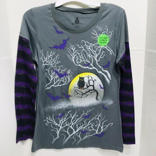Halloween Long Sleeve Women's Petite XXL//XXG Glow In The Dark Shirt