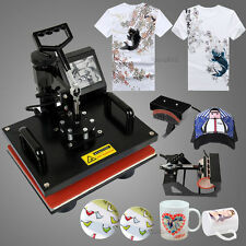 8in 1 Transfer Sublimation Heat Press Machine T-Shirt Mug Hat Plate Cap Printing