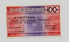 MINI ASSEGNO CIRCOLARE CREDITO ITALIANO LIRE 100 - 1976
