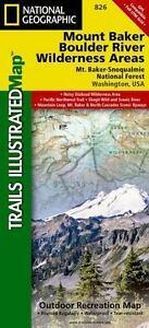 Details zu Mount Baker & Boulder River Wilderness, WA (Nat Geo) Illustrated  Trails Map #826