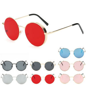 79e01d2786 Women Men Vintage Retro Hippie Classic Circle Round Sunglasses Small ...