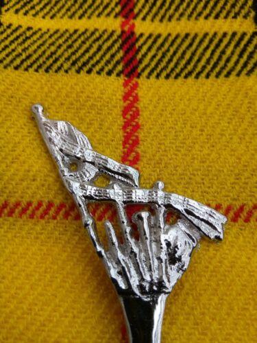 Scottish Bagpipe Kilt Pin In High Chrome Finish//Brooch Kilt Pin//Kilt Pins