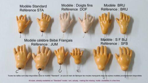"""Hände standard für Puppen antike/"""" sta 11/"""" Antique doll Hände standard"""