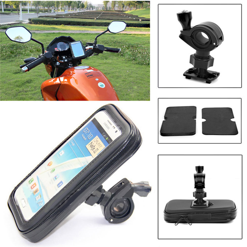 wasserdichte motorrad motorrad fahrrad f r gps sat nav. Black Bedroom Furniture Sets. Home Design Ideas