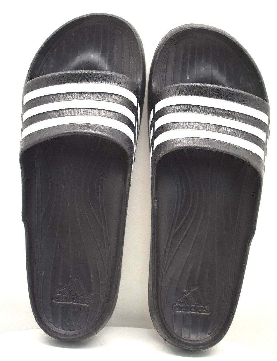 Adidas Duramo Sleek US Slides Black / White US Sleek Size 5 - FREE SHIPPING - BRAND NEW 9c58aa
