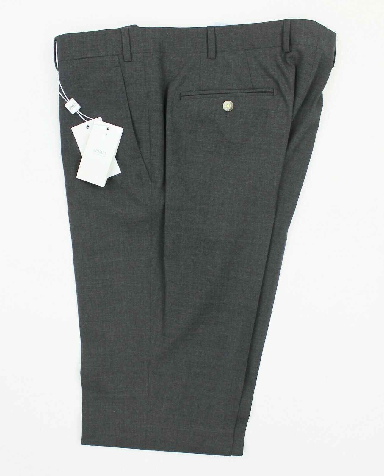 Emporio Armani - Wool Slim Trousers in Grey - W32 L36 -  RRP