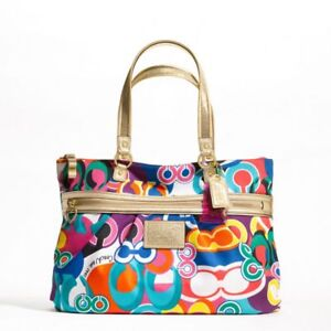 c7e1c7e7be New  323 Coach Handbag Daisy Pop C Print Tote - B4 Multicolor ...