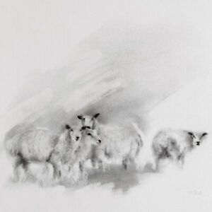 Sheep Charcoal Drawing Sketch / Original Artwork