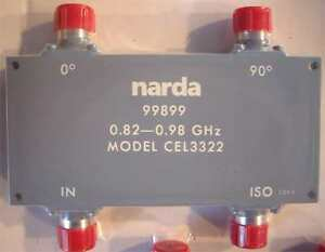 Narda-CEL-3322-90-Degree-Hybrid-Directional-Coupler-0-82-0-98-GHz-500-Watts